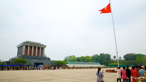 Ho Chi Minh Mausoleum showing a memorial