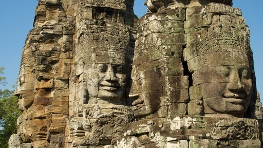 Angkor Bayon showing building ruins