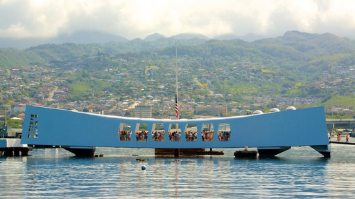 USS Arizona Memorial showing a memorial