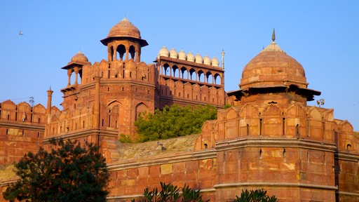 Red Fort showing heritage architecture and a castle