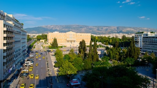 Syntagma Square showing a city