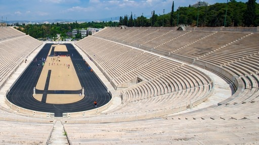 Panathenaic Stadium featuring a sporting event