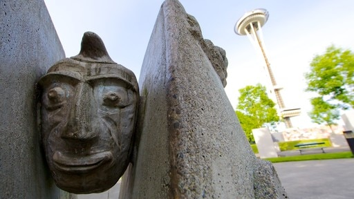 Seattle Center featuring outdoor art
