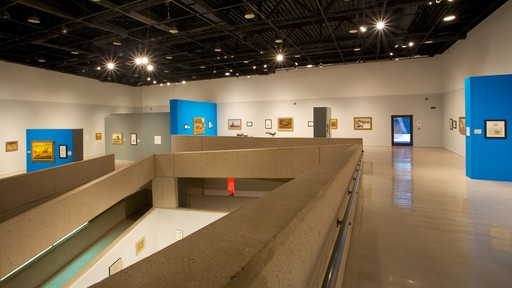Tucson Museum of Art showing interior views and art