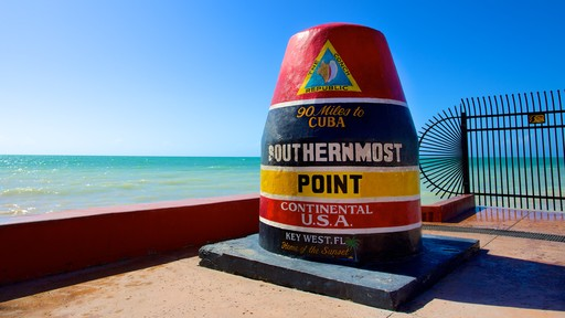 Southernmost Point showing signage