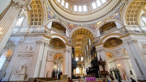 St. Paul\'s Cathedral featuring a church or cathedral, interior views and heritage architecture
