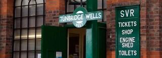 Royal Tunbridge Wells featuring signage
