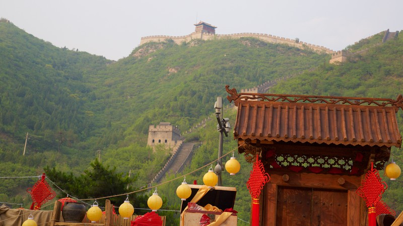 Great Wall of China which includes heritage elements and a monument