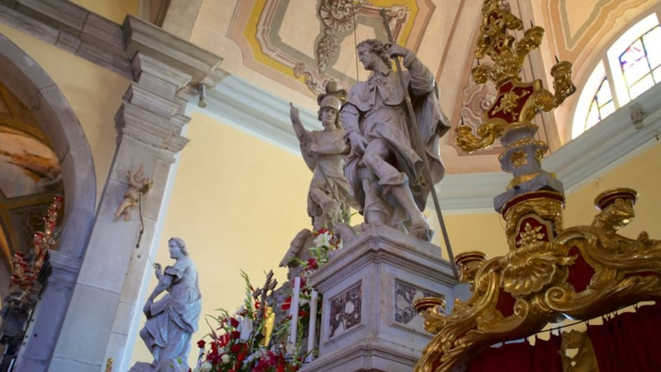St. Euphemia\'s Church showing religious elements and a statue or sculpture