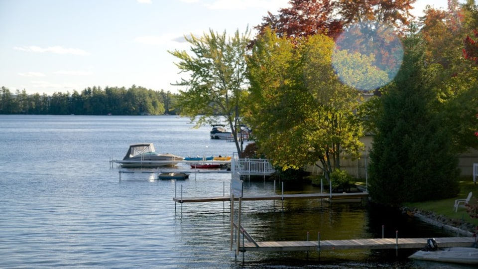 Laconia featuring a lake or waterhole and a bay or harbor