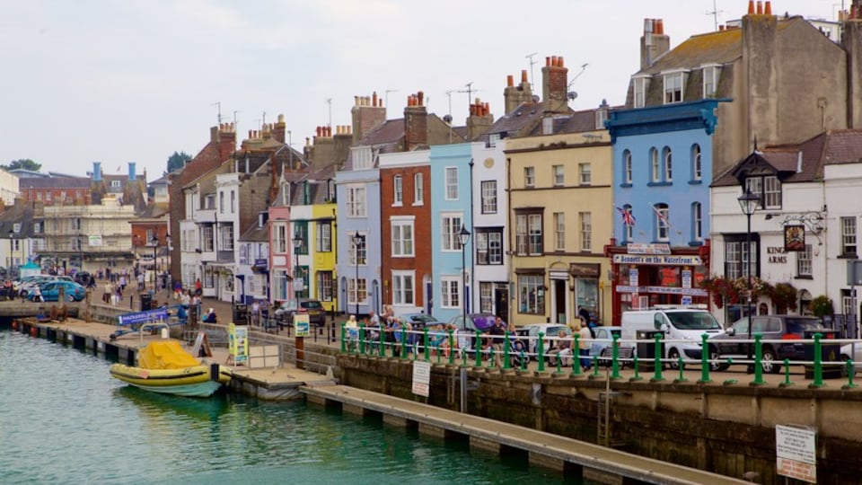 Weymouth featuring a marina and a house