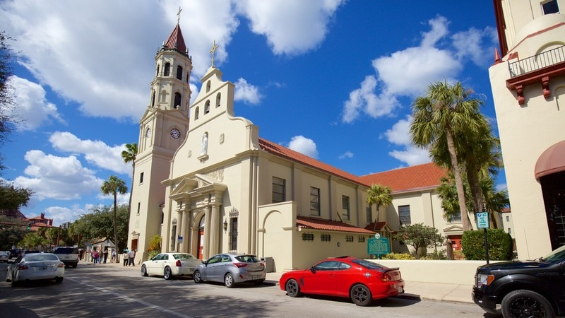 Cathedral Basilica of St. Augustine featuring heritage elements and a church or cathedral