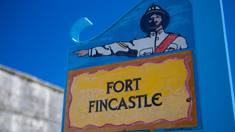 Fort Fincastle which includes signage