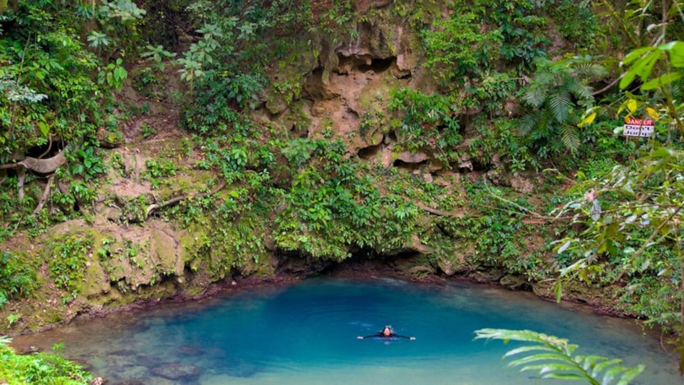 Blue Hole National Park featuring a lake or waterhole, swimming and tranquil scenes