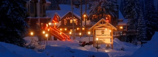 Golden which includes a luxury hotel or resort, snow and night scenes