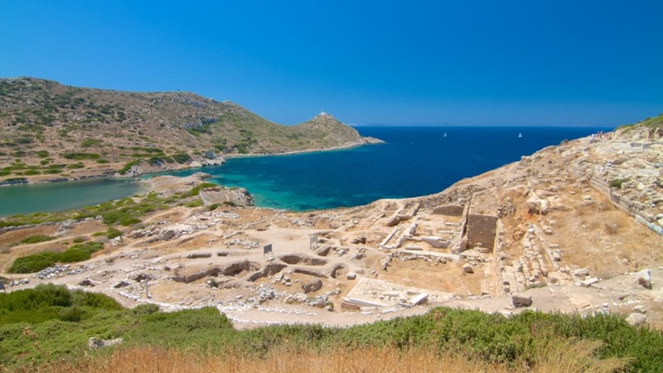Datca featuring a bay or harbor and a ruin