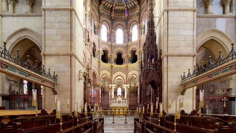 St. Finbarr\'s Cathedral which includes interior views, heritage architecture and religious elements