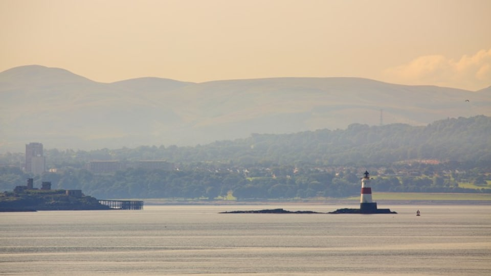 Aberdour which includes a sunset and general coastal views