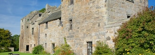 Aberdour Castle featuring chateau or palace and heritage elements