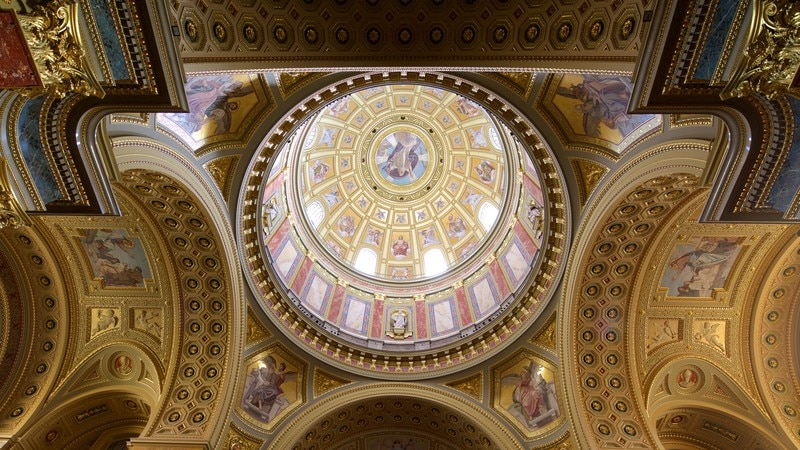 St. Stephen\'s Basilica showing a church or cathedral, interior views and religious elements