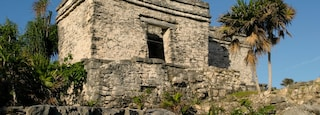 Tulum showing tropical scenes and heritage elements