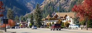 Leavenworth featuring street scenes