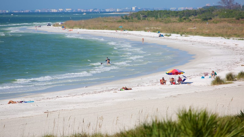 Fort De Soto Park which includes a sandy beach