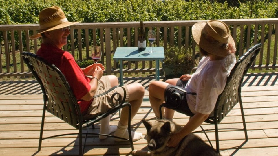 Salt Spring Island featuring drinks or beverages as well as a couple