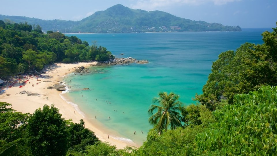 Phuket - Phang Nga which includes rugged coastline, a beach and a bay or harbor