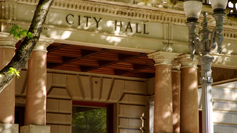Multnomah Falls Portland City Hall