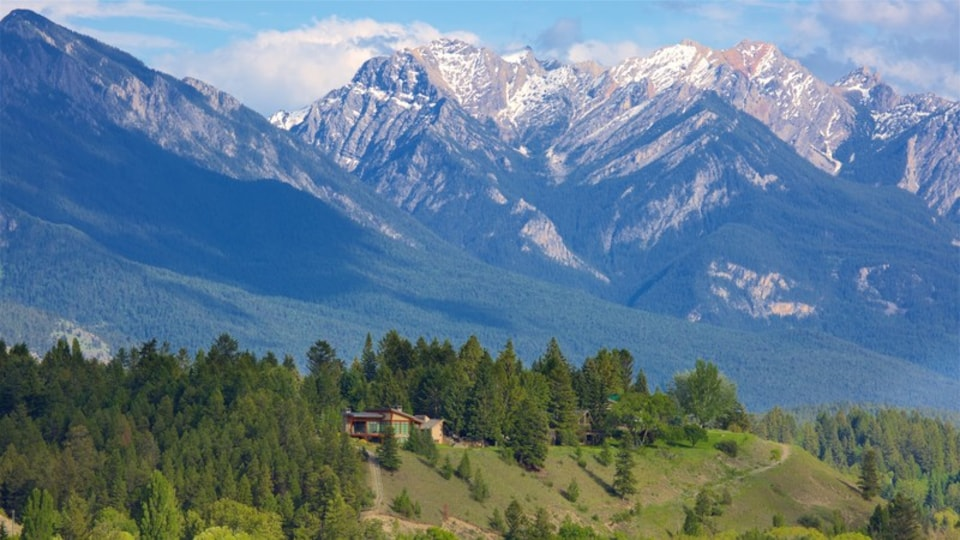 Invermere which includes mountains, tranquil scenes and landscape views