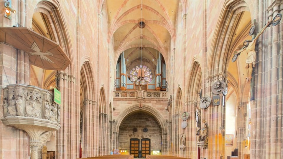 St. Lorenz Church showing interior views, a church or cathedral and heritage elements