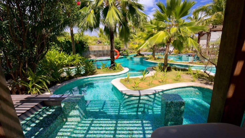 Bora Bora featuring a pool, a luxury hotel or resort and tropical scenes