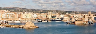 Civitavecchia which includes a city and a bay or harbor