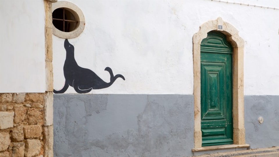 Faro Old Town showing outdoor art