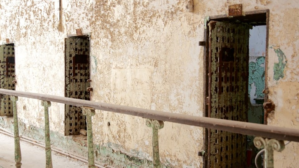 Eastern State Penitentiary featuring heritage elements