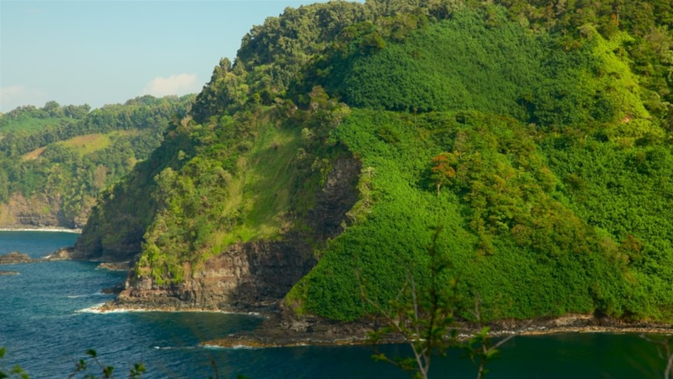 Maui Island which includes general coastal views and rugged coastline