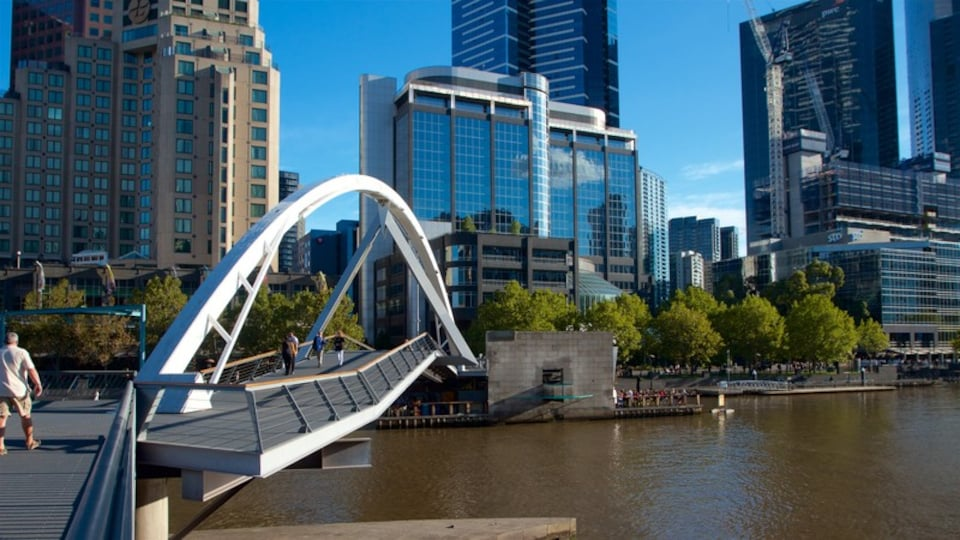 Melbourne featuring a river or creek, a city and a high rise building