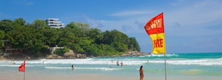Kata Beach showing swimming, a sandy beach and general coastal views