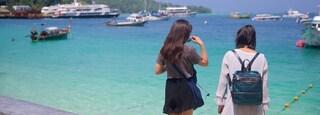 Ko Phi Phi showing a bay or harbor, tropical scenes and general coastal views