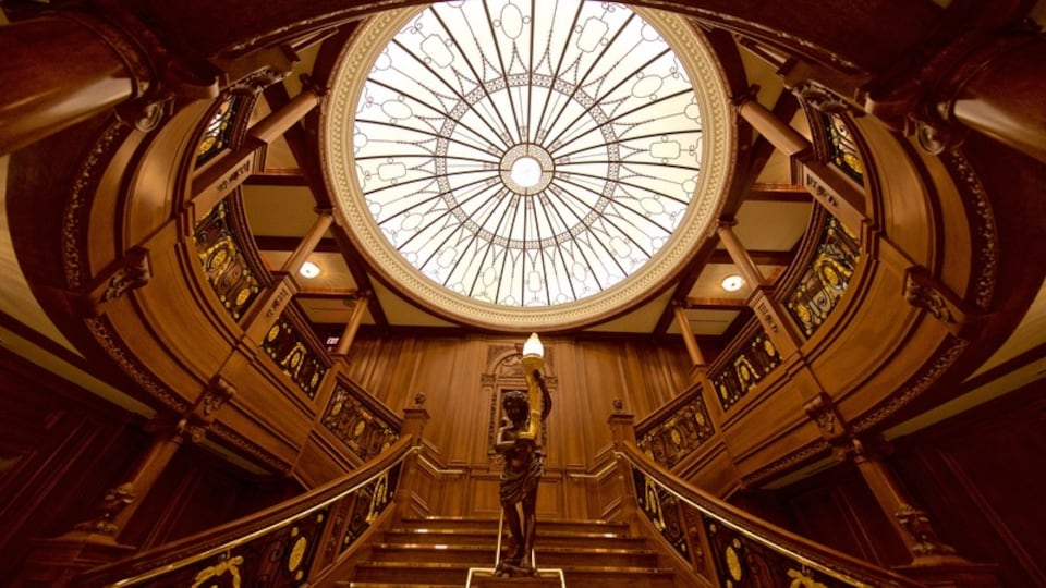 Titanic Museum featuring interior views, heritage elements and a statue or sculpture
