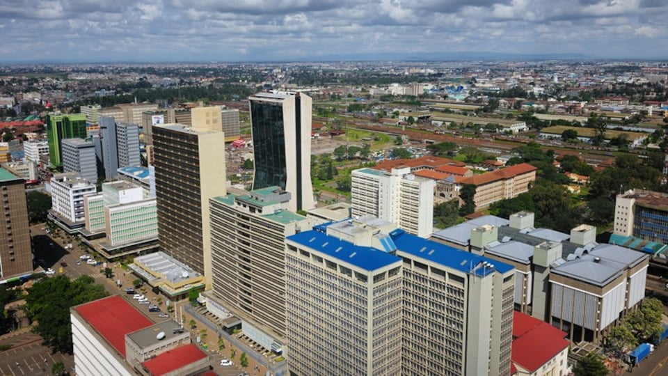 Nairobi showing a high rise building, a city and central business district