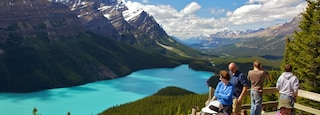 Peyto Lake showing landscape views, mountains and views