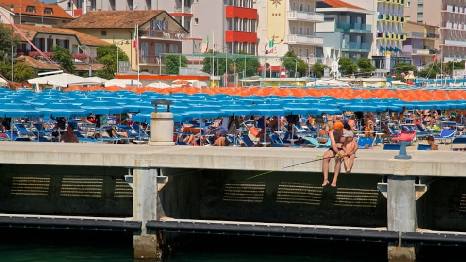 Bellaria-Igea Marina featuring fishing and a coastal town as well as a family
