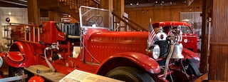 Aurora Regional Fire Museum showing interior views, signage and heritage elements