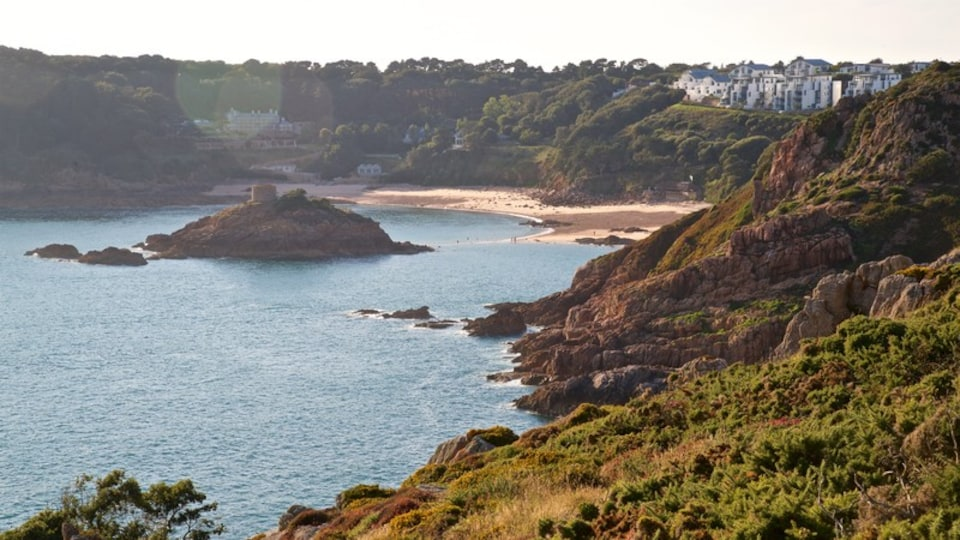 Jersey which includes general coastal views and rugged coastline