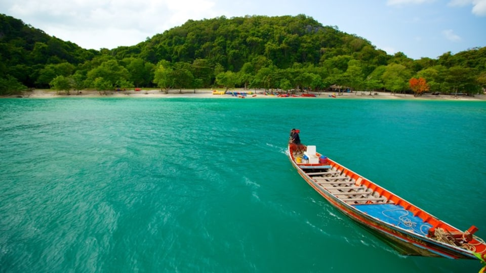 Koh Samui featuring boating, general coastal views and forest scenes