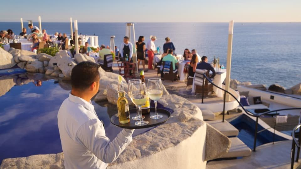 San Jose del Cabo featuring drinks or beverages, general coastal views and outdoor eating