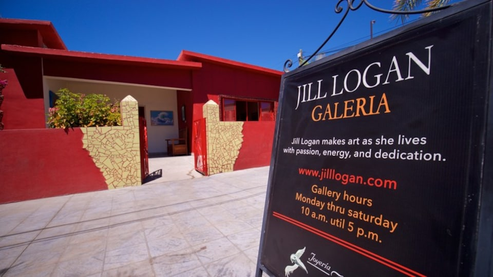 Logan Gallery showing signage