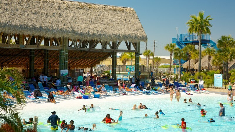 Galveston Schlitterbahn Waterpark which includes swimming, a luxury hotel or resort and rides